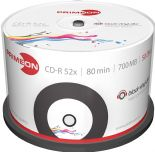 50 Primeon 2761107 Vinyl Printable Black Bottom Blank CD-R Discs 700MB 52x 80min